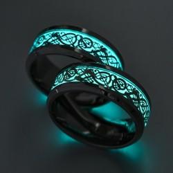 Glowing in the dark fluorescent ring - unisex