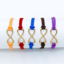 Leather bracelet with Infinity sign