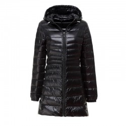 Ultralight - slim - long hooded jacket