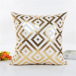 Gold pattern - pillowcase cushion cover 45 * 45cm