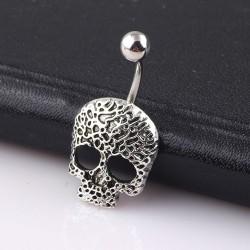 Skull - belly button ring - piercing