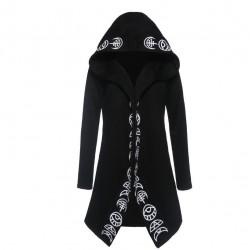 Gothic & Punk-Stil - langes Sweatshirt - loser Hoodie - Baumwolle