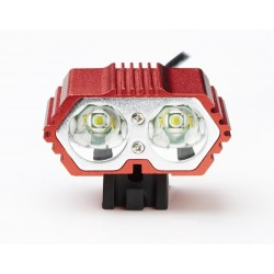 2x XM-L T6 - DZ50 - 3-mode LED 8000Lm front bike lamp- built in 18650 battery - waterproof