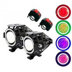 SUNKIA U7 - motorcycle LED headlight with switch - fog lamp - Creee chip 3000LM - 2 pcs set