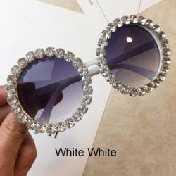 Round crystal sunglasses - UV400