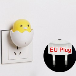 LED-wandlamp - stekkerlamp - nachtlampje - met sensor - gele kip
