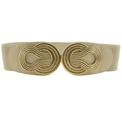 Vintage Chinese knot - elastic leather belt