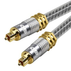 Toslink EMK - premium - digital optical audio cable - OD8.0mm Spdif gold connector - 1m - 2m - 3m - 5m