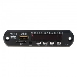 Wireless FM receiver - 5V 12V car MP3 player - audio module radio - Wma TF USB 3.5mm AUX speakers