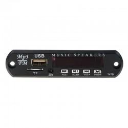 Wireless FM receiver - 5V 12V car MP3 player - audio module radio - Wma TF USB 3.5mm AUX speakers