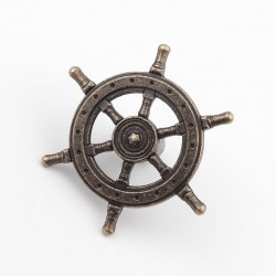 Rudder steering wheel - antique knob - furniture handle - 54mm