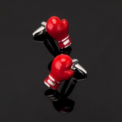 Red boxing gloves - cufflinks