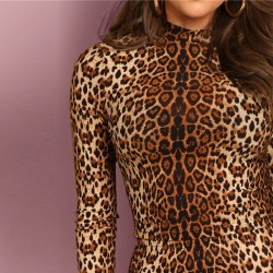 Leopard design - top & skirt 2 pcs set