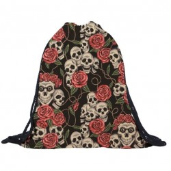 3D skull & roses -...