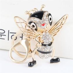 Crystal bee - keychain
