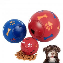 3 Size Educatief Interactieve Hond Speelgoed Rubber Bal Puppy Chew Speelgoed Poot Bone Print Dog Tre