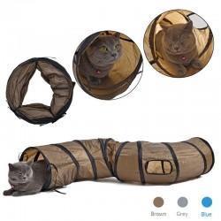 Faltbarer Tunnel in S - Form für Katzen und Haustiere