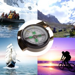 Draagbare Vouwen Army Green Lens Kompas Amerikaanse Militaire Multifunctionele Mini Camping Klimmen