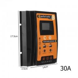 12V 24V 30A 50A 70A MPPT - Solarladeregler - Solarpanel-Batterieregler - Dual USB LCD Display