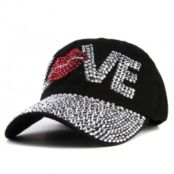 Crystal Love & lips - baseball cap - unisex