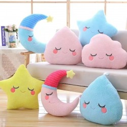 Star, cloud & water drop- soft pillow - plush toy