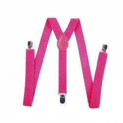 Clip-on Suspenders - Elastic Y-Shape Adjustable Braces - Unisex