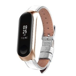 Lederband für Xiaomi Mi Band 3 - 4 Uhr