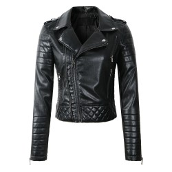 Soft leather jacket with zippers