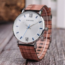 Elegant wooden quartz watch - unisex