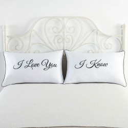 Mr & Mrs pillow case for couples 48 * 74cm 2 pcs