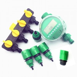 Garden irrigation timer - hose splitter - connector - 7 pcs / set