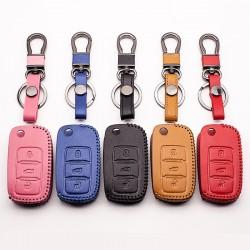 Autosleutel lederen cover voor Volkswagen Polo B5, B6, Golf 4, 5, 6, Jetta, MK6, Tiguan