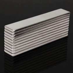 N48 super strong neodymium magnet 50 * 10 * 2mm - block 10 pcs