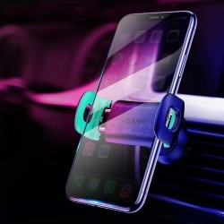 USAMS Auto Telefoon Houder voor iPhoneX 8 7 6 Verstelbare Air Vent Mount Auto Houder 360 Graden Rota