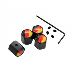 4Pcs/Set Germany Flag Logo Air Valve Caps