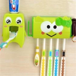 Multifunctionele badkamer organizer - tandenborstel houder en dispenser voor tandpasta