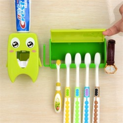 Multifunktionaler Badorganisator - Zahnbürstenhalter und Zahnpastaspender