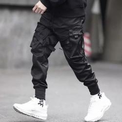 Multi-pocket hip-hop trousers