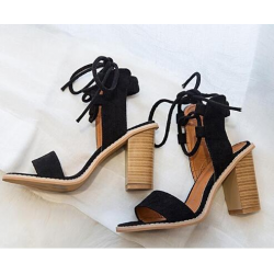Sexy lace-up pumps - high heel sandals