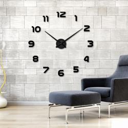 2019 freies Verschiffen Neue Uhr Uhr Wanduhren Horloge 3d Diy Acryl Spiegel Aufkleber Hause Dekorati