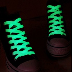 2 PcS luminous glowing casual green led shoelace - 1 meter