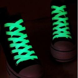 Glowing in the dark shoelaces