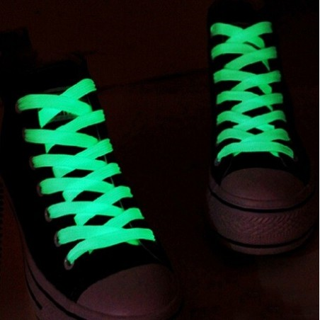 2 PcS luminous glowing casual green led shoelace - 1 meter