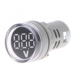 22mm LED Digital Display Gauge Volt Spannung Meter Anzeige Signal Lampe Voltmeter Lichter Tester Com