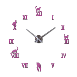 3D decorative wall quartz clock with roman numbers