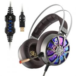 NiUB5 PC65 Glowing Gaming Headset Bass stereo 3D Immersive USB 71 Surround Sound Schock PS4 Kopfhr
