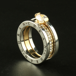 Elegant Austrian crystal gold color jewelry rings for women
