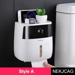 Moderner Toilettenpapierspender für die Wandmontage - wasserdicht