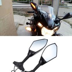 Evomosa Motorrad Rckspiegel LED Blinker Lichter fr Hyosung GT125R GT250R GT650R Kawasaki Z750S Nin