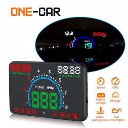 GEYIREN E350 OBD2 II HUD 5.8 Inch screen - overspeed alarm & fuel consumption - car display